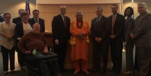 Religious statesman Rajan Zed warmly welcomed in Illinois